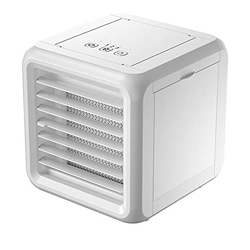 XHMJ Mini condizionatore d'Aria, Materiale ABS, Regolazione della velocità del Vento a Tre Livelli, Serbatoio Doppio Acqua, Alimentazione USB, Adatta per dormitorio/uff White