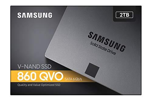 Samsung MZ-76Q2T0BW Interne SATA SSD 860 QVO 2 TB 2,5 Zoll bis zu 550 MB/s schwarz