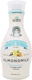 Califia Farms Unsweetened Vanilla Almondmilk, 48 Fl Oz | Dairy Free | Whole30 | Keto | Vegan | Plant Based | Nut Milk | Non-GMO