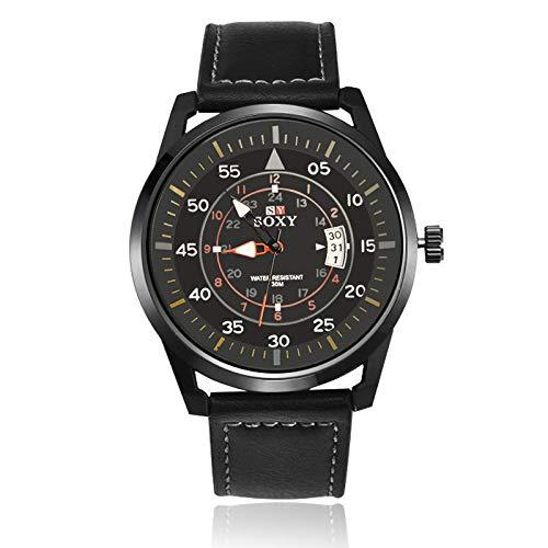 SJXIN Schöne und stilvolle Armbanduhr, SOXY Uhr männliche Herrenuhr zu sehen Modeuhren (Color : 1)