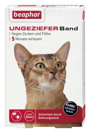Ungezieferband Katze 35cm Lang Farbe Schwarz-Braun