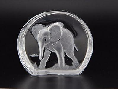 Escultura Murano Collection icono elefante esculpido cristal Murano Made in Italy