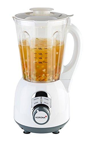 Korona- Soup Maker 24210 I 900 W I 1,5 Liter I 2 Kochprogramme I Dampf-Funktion | Weiß