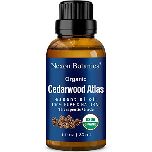 Organic Cedarwood Essential Oil 30 ml - Therapeutic Grade Oil - Great for Aromatherapy, Seasonal Sinus Congestion, Cold, and Cough - Soothes Muscle Pain - Perfect for DIY Skin and Hair Care Recipe