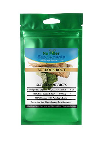 NoFillerSupplements Burdock Root 60 Vegetable Capsules