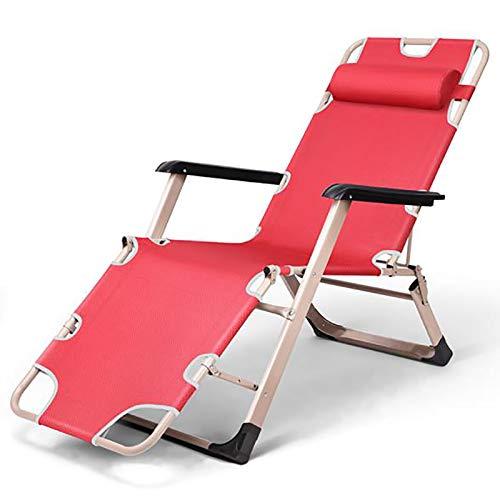 Bias&Belief Sun Lounger Reclining Garden Chair Garden Beach Backyard Patio Poolside Chair Max Load 330 Pounds,Red