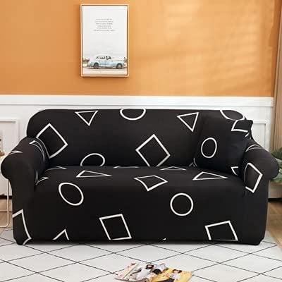 ASCV Druck Farbe Ecke Sofabezüge für Wohnzimmer elastische Spandex Schonbezüge Couchbezug Stretch Sofa Handtuch A10 4-Sitzer