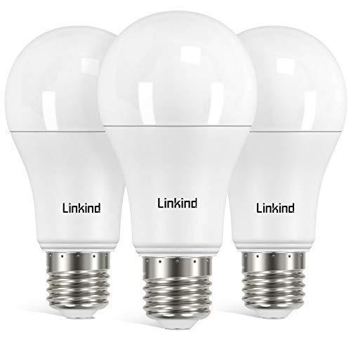 Linkind 3er-Pack 13W Dimmbar E27 LED Lampe, 100W Glühlampe ersetzt, 2700k Warmweiß 1521LM A60 Edison Birne, ERP, CE-zertifiziert