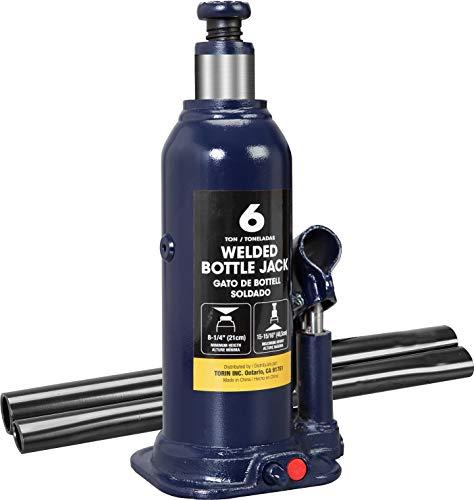 TCE AT90603BU Torin Hydraulischer geschweißter Wagenheber, 6 Tonnen (5,4 kg) Kapazität, blau, 6 Ton (12,000 lb)