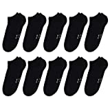 ORIGINAL BASICS Herren und Damen Sneaker Socken Füßlinge Kurz-Socken Baumwolle (10 Paar) Schwarz 41-46