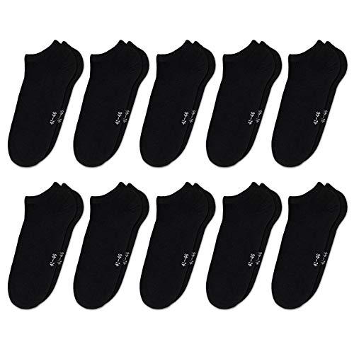 ORIGINAL BASICS Herren & Damen Sneaker Socken Füßlinge Kurz-Socken Baumwolle (10 Paar) Schwarz 36-41
