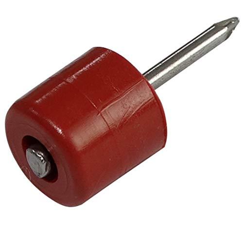 AERZETIX: 400 x Einlegeböden für Nägel Durchmesser 10 mm rund aus Kunststoff Kirschbaum C41735