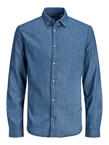 JACK & JONES Male Hemd Comfort Fit Denim Llight Blue Denim