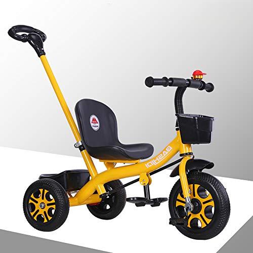 Aocean Triciclos Bebes,Coche Triciclo Niño Bicicleta Bebe Evolutivo Niños de 2-5 Años,Trike Bicicleta Control Parental Mango yRuedas de Gomas y Conducción Silenciosa Máx 30 kg, Yellow