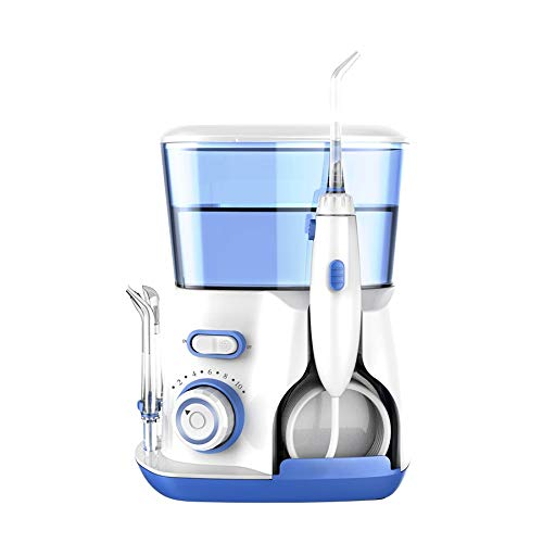 TWDYC Dental Flosser for Oral Irrigation Portable Electric Dental 5 Nozzle 800ML Water Tank Dental Care Tooth Cleaner Toothbrush (Color : B)