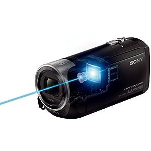 Sony HDR-CX405 Full HD Camcorder (30-fach opt. Zoom, 60x Klarbild-Zoom, Weitwinkel mit 26,8 mm, Optical Steady Shot) mit Intelligent Active Mode Verwacklungsarme Aufnahmen schwarz