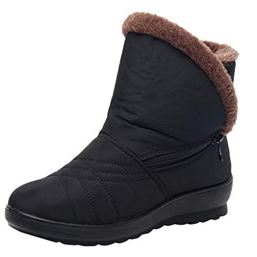 Dorical Damen Winterstiefel Wasserdicht Warm Gefütterte Schneestiefel Leichtgewichtig Anti-Rutsch Schneeschuhe Outdoor Wanderschuhe Kurzschaft Boots Schuhe mit Reißverschluss Damenschuhe