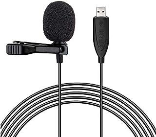 Microphones - USB Lavalier Microphone Clip on Collar Condenser Lapel Mic Microphone for PC Desktop Computer Smart Phones