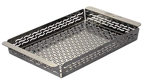 LARES - Bandeja para barbacoa de acero inoxidable - Varios tamaños - Fabricado en Alemania