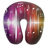Hdadwy Ensemble d'oreillers de Voyage Notes de Musique colorées Meilleurs Accessoires de Sommeil pour Les Longs Vols en Avion et Les Voyages en Voiture