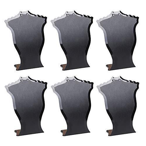 Vococal 6pcs Plastica Supporto per Collana Espositore per Collana Collo Collana Gioielli Orecchino Espositore Titolare Cremagliera Organizzatore Vetrina