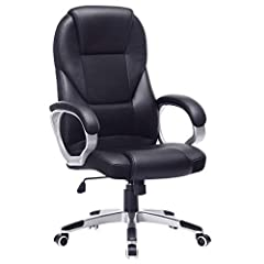 SONGMICS Office Chair Executive Chair Swivel Chair Computer Stoel Stoel Hoogte verkleining bureaustoel bekleding, OBG22B*