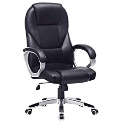 SONGMICS office chair executive chair swivel chair computer chair seat height adjustment office chair upholstery, OBG22B