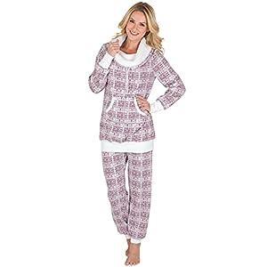 PajamaGram Soft Fleece Pajamas Women - Pajamas for Women, Pink, S, 4-6