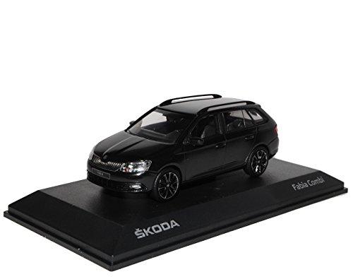 iScale Skoda Fabia III Typ NJ Kombi Magic Schwarz Ab 2014 1/43 Modell Auto mit individiuellem Wunschkennzeichen