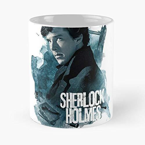 everyonic Arthur Conan Consulting Usa Sherlock Series Film Detective Doyle Tv Holmes NYPD Best Mug hält Hand 11oz aus weißer Marmorkeramik
