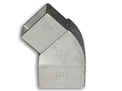Zaun-Nagel Abwinklung Adapter für Doppelstabpfosten, 1-Fach - Adapterstück OHNE Aufsteckrohr - Befestigung für Stacheldraht