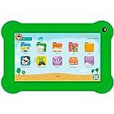 InnJoo Tablet Infantil K701 Blanca con Marco Protector Verde - QC - 1GB RAM - 16GB - 7'/17.78CM - Android 8.1 GO - CAM 0.3/2MPX