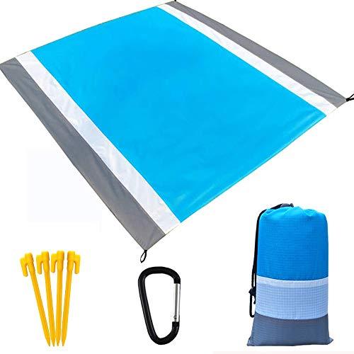 Alfombra De Playa Manta de Picnic, Impermeable Anti-Arena portátil Alfombra de Picnic Plegable para Parque, Camping Al Aire Libre, Playa (210 x 200 cm)