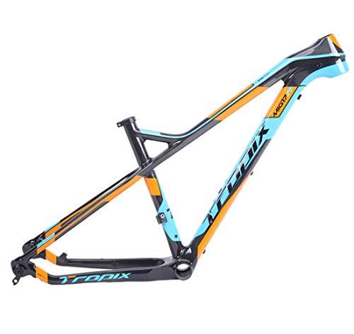 YUONG Fahrradrahmen Carbon MTB Fahrrad Rahmen Carbonfaser 26 Zoll 27.5 Zoll 15