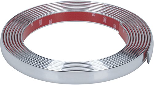 hr-imotion selbstklebende Chrom-Zierleiste - 500cm x 21mm [3M Material | Zuschneidbar | Witterungsbeständig | Hochflexibel] - 12010501