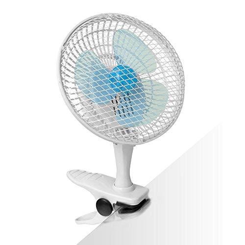 2-Stufen Mini Clip Ventilator, 15Watt, perfekt als Tischventilator im Büro oder Schreibtisch