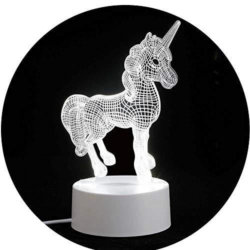 Nachtlicht Optische Illusions Lampe LED Nachttischlampe Kreative 3D Pferd Tischleuchte Schreibtisch Lampen Für Schlafzimmer Hochzeit Geburtstag Weihnachten Valentine Geschenk