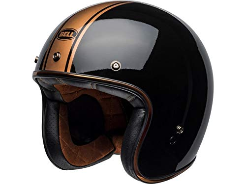 BELL HELMET CUSTOM 500 DLX RALLY GLOSS BLACK/BRONZE S, C500-DLX_RAL-01_S