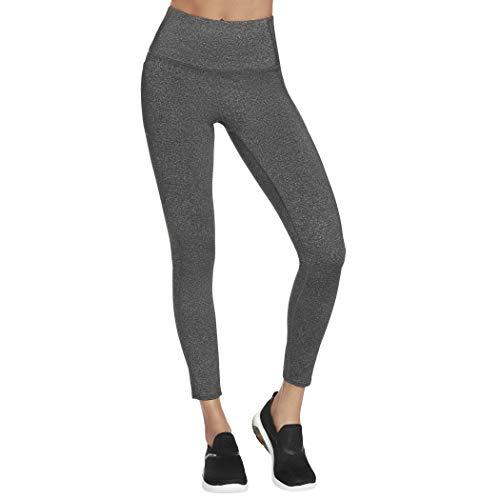 Skechers Go Flex HW Legging Pantalones de Yoga, Gris Oscuro, XXL para Mujer