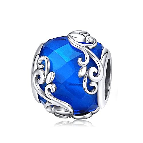 Mujeres Plata De Ley 925 Cuentas De Cristal Verde Europeo Licorne Ocean Beads Charms Fit Original Charms Colgante Pulseras Fabricación De Joyas D1