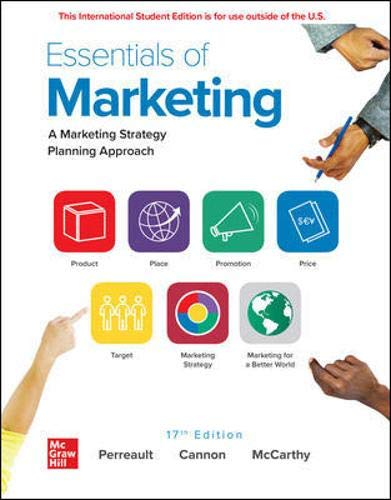 Compare Textbook Prices for Essentials of Marketing 17 Edition ISBN 9781260570915 by Perreault, William,Cannon, Joseph,McCarthy, E. Jerome