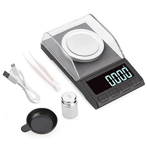 0 001g Electronic Libra 100g / 50g / 20g Digital Libra Jewelry Diamond Way Báscula de laboratorio portátil-50g 0.001g Más