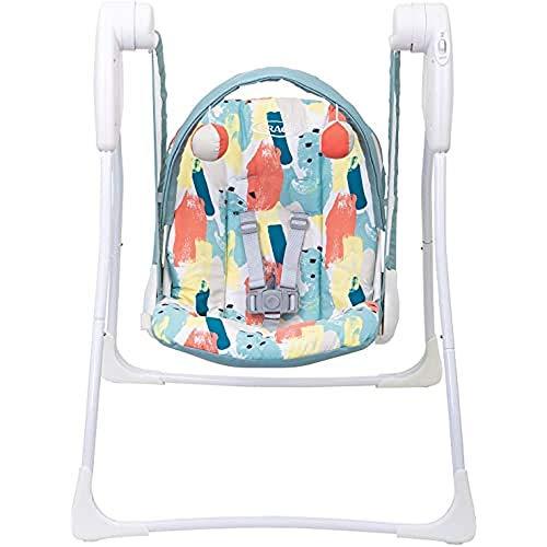 Graco Baby Delight Schaukel, 2 Geschwindigkeiten, tragbar, batteriebetrieben, mit kompakter Faltung, Paintbox