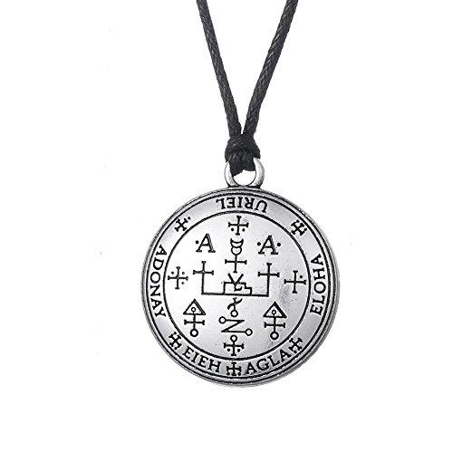 fishhook Wicca Das Siegel des Erzengels Uriel Feuer Gottes Talisman Amulett Anhänger Halskette