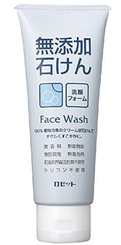 ROSETTE | Facial Washing Foam | Additive Free Soap 140g (japan import)