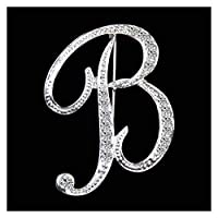 ブローチ 女性男性のシルバーカラーの金属のピンジュエリーアクセサリークリスマスプレゼントのための文字かわいいブローチ ファッション (Metal color : With remote control)