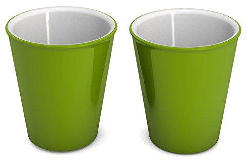 Ornamin Becher 300 ml grün, 2er-Set (Modell 1206) / nachhaltiger Mehrweg-Becher Kunststoff