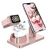 DOMAVER Support de téléphone portable 3 en 1 - Compatible avec Apple Watch Series 5/4/3/2/1...