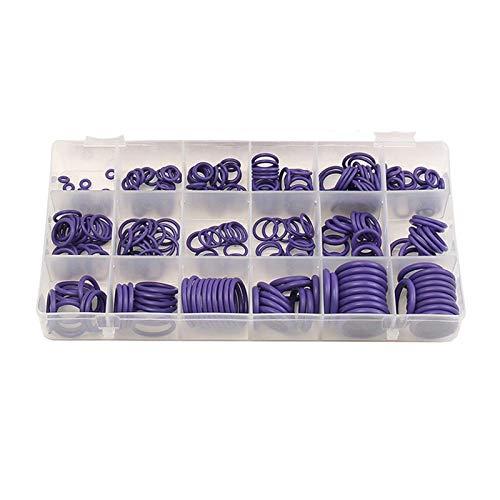 Suleve Suleve Surtido de arandelas de goma para aire acondicionado de buena calidad para R22 R134a Verde/Púrpura Piezas estándar Conjuntos de juntas tóricas de sello de 270 piezas (Color: Púrpura)