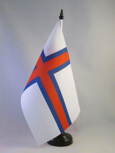 AZ FLAG TISCHFLAGGE FÄRÖER-Inseln 21x14cm - FÄRÖER TISCHFAHNE 14 x 21 cm - flaggen